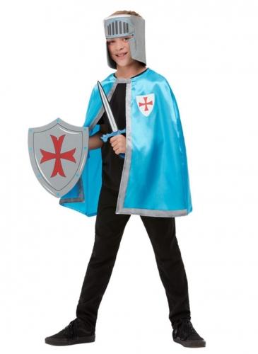 Kit accessoires chevalier bleu enfant
