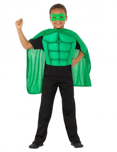 Kit super héros vert enfant