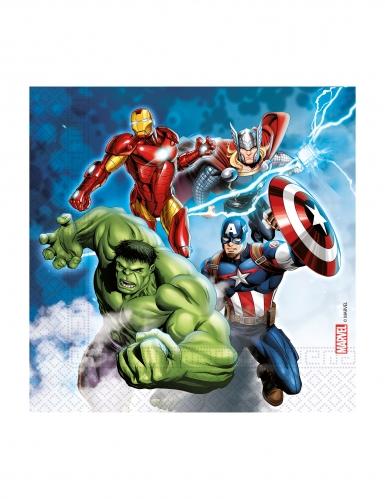 20 Serviettes en papier compostable Avengers™ 33 x 33 cm