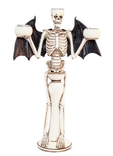 Bougeoir squelette diabolique 31 cm