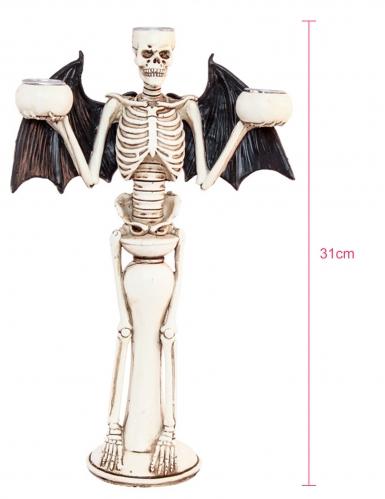 Bougeoir squelette diabolique 31 cm-1