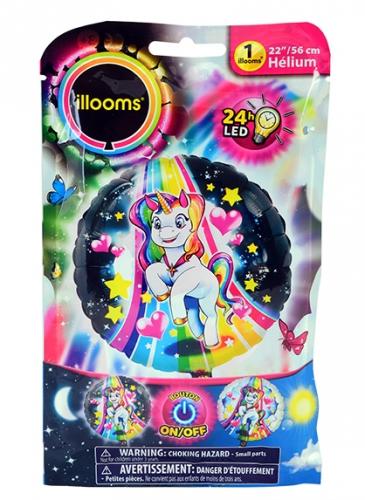 Ballon aluminium licorne LED Illooms® 50 cm