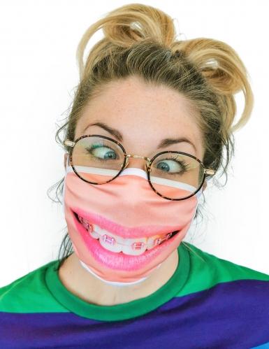 Masque cache nez imprimé appareil dentaire adulte