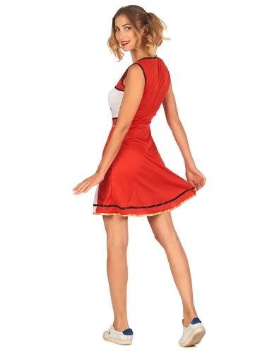 Déguisement pompom girl USA rouge femme-2