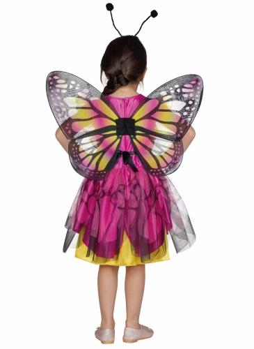 Déguisement papillon rose et jaune fille-1
