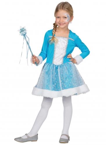 Déguisement princesse des neiges bleue fille-1