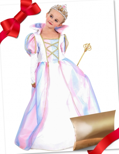 Coffret cadeau déguisement princesse avec accessoires fille