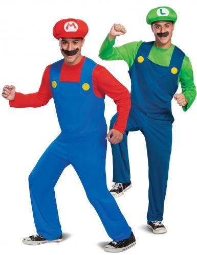 Déguisement de couple classique Mario et Luigi