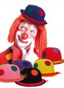 Chapeau de clown à pois adulte