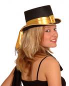 FIN DE VIE Chapeau haut de forme doré adulte