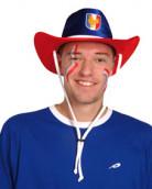 Chapeau de cowboy pour supporter français