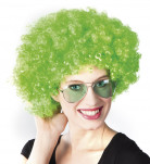 Peluca afro verde de Saint Patrick para adulto