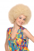 Perruque afro disco blonde adulte
