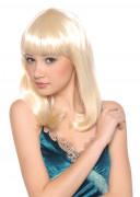 Perruque mi-longue blonde femme