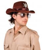 Chapeau de shériff marron adulte