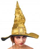Chapeau de sorcière métal or adulte