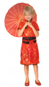 Déguisement chinoise rouge fille
