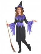 Déguisement violet de sorcière fille Halloween