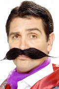 Moustache noire à l'anglaise adulte