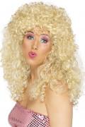 Perruque blonde frisée femme