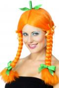 Perruque de citrouille femme Halloween