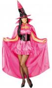 FIN DE VIE Cape de sorcière rose femme halloween
