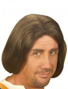 Perruque marron homme