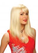 Perruque blonde à frange femme
