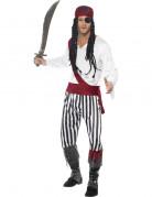 Déguisement pirate avec bandana rouge homme