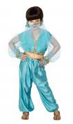 Déguisement danseuse orientale bleue et dorée fille
