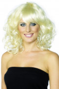 Perruque blonde ondul�e femme
