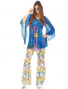Déguisement flower power hippie femme
