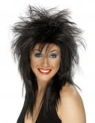 Perruque rock noire femme