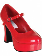 Chaussures coquettes vernis rouge adulte Halloween