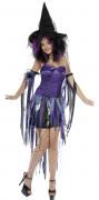Déguisement violet sorcière femme Halloween