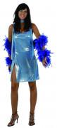 Déguisement disco femme bleu