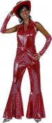 Déguisement disco rouge femme