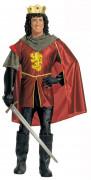 Déguisement roi médiéval rouge homme