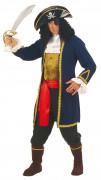 Déguisement pirate gilet bleu homme