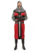 Déguisement chevalier médiéval rouge homme