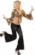 Pantalon pattes d'éléphant disco femme