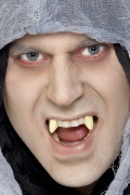 Dentadura postiza de vampiro para adulto, ideal para Halloween