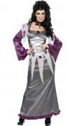 Déguisement vampire gris et violet femme Halloween