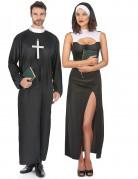 Déguisement couple de nonne et de prêtre