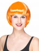 Perruque courte orange femme