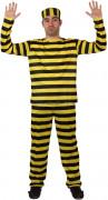Déguisement célèbre prisonnier jaune Homme