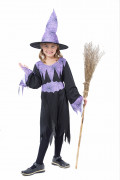Halloween Purple Witch costume for girls