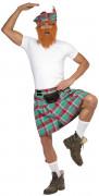Kilt écossais vert adulte