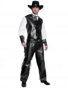 Déguisement cowboy noir effet cuir homme
