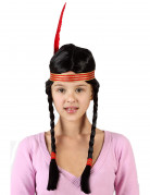 Red Indian wig for girls